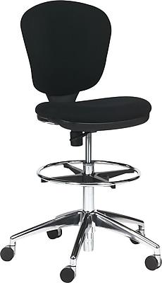 Safco Metro Mid-Back Fabric Swivel/Tilt Chair, Armless, Black