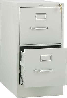 HON 510 Series Vertical File Cabinet with High Sides, Letter, 2-Drawer, Light Gray, 25