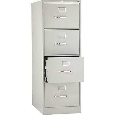 HON 510 Series Vertical File Cabinet, Legal, 4-Drawer, Light Gray, 25