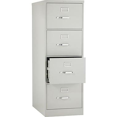 Hon® 320 Series 4-Drawer Vertical File Cabinet, Light Gray, Legal