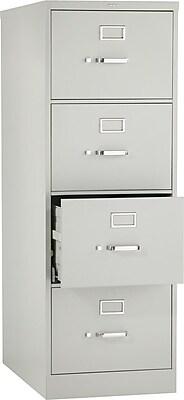 HON® 320 Series 4 Drawer Vertical File Cabinet, Legal, Light Grey 26