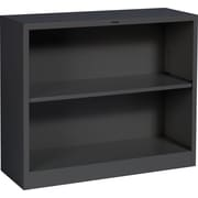 "HON Brigade Steel Bookcase, 2 Shelves, 34-1/2""W, Black Finish NEXT2018 NEXT2Day"