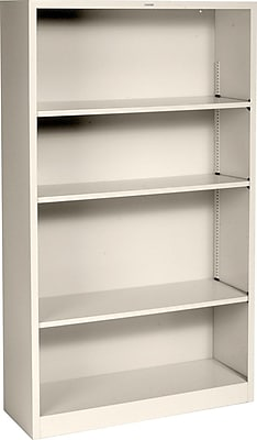 HON Brigade Steel Bookcase, 4 Shelves, 34-1/2