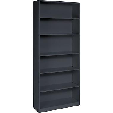 HON Brigade 34.5'' 6-Shelf Bookcase, Charcoal (HONS82ABCS)