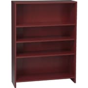 HON® 1870 Series Wood Laminate Bookcases - 4-Shelf, Mahogany