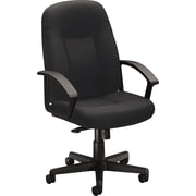 basyx by HON Fabric Executive Office Chair, Fixed Arms, Charcoal (HVL601VA19.COM) NEXT2017