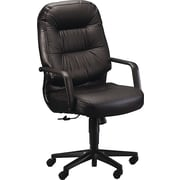 HON Pillow-Soft Executive High-Back Chair, Center-Tilt, Fixed Arms, Black Leather NEXT2018 NEXT2Day