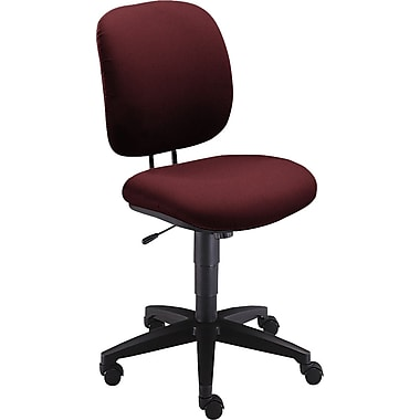 HON ComforTask Fabric Computer and Desk Office Chair, Armless, Burgundy (H5902AB62T.COM) NEXT2017