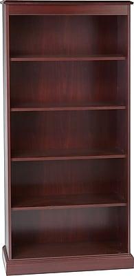 HON® 94000 Series 5-Shelf Bookcase, Mahogany