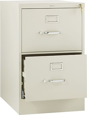 HON 510 Series 2 Drawer Vertical File Cabinet, Legal, Putty, 25