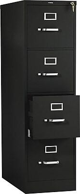 HON 510 Series 4 Drawer Vertical File Cabinet, Letter, Black, 25