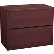 "HON 10500 Series 2 Drawer Lateral File Cabinet, Mahogany Finish, 36""W (HON10563NN) NEXT2018 NEXT2Day"