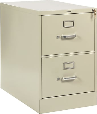 HON® 210 Series 2 Drawer Vertical File Cabinet, Legal, Putty, 28