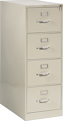HON® 210 Series 4 Drawer Vertical File Cabinet, Legal, Putty, 28