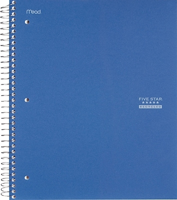 Five Star® Recycled Wirebound Notebook, 1 Subject, College Ruled, 11