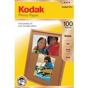 """Kodak Photo Paper, 4"""" x 6"""", Gloss, 100/Pack"""