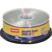 Staples 25/Pack 8.5GB DVD+R DL Spindle