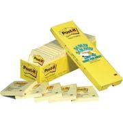 Post-it® - Feuillets jaune canari, paquet Cabinet Pac, 3 po x 3 po, paq./24 blocs