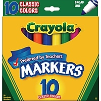 Crayola Classic Markers Broad Line 10/Box Deals
