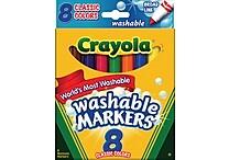 Crayola® Washable Markers, Broad Line, 8/Box