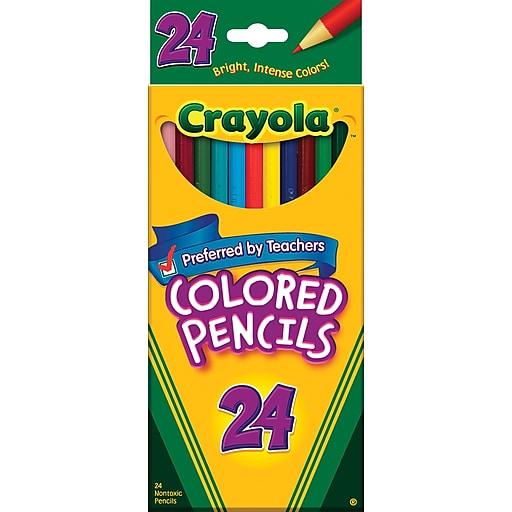 crayola colored pencils 24 box staples