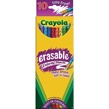 Crayola® Eraseable Colored Pencils, 10/Box