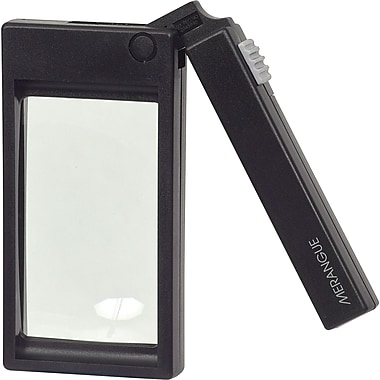 Staples® Folding-Handle Magnifier with Light