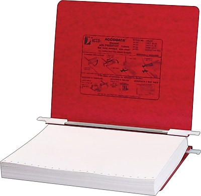 Acco® Hanging Data Binders Presstex® Cover, Executive Red, 11
