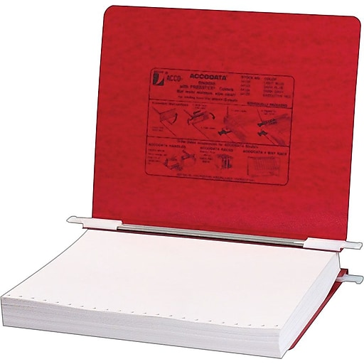 acco hanging data binders presstex cover executive red 11 x 8 1