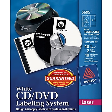 Avery CD/DVD Design Kit Labeling Systems