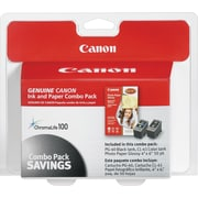 Canon PG-40 Black and CL-41 Color Ink Cartridges & Photo Paper (0615B009), Combo 2/Pack