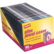 Staples 5mm Slim Jewel Cases, 50/Pack