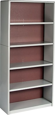 Safco® Value Mate® Steel Bookcases, Grey, 67