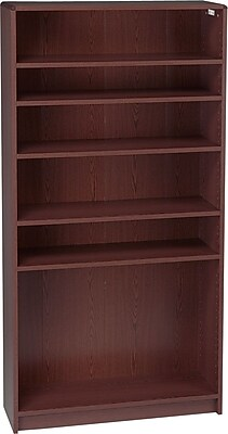 HON® Radius-Edge Laminate Bookcases, 72-5/8