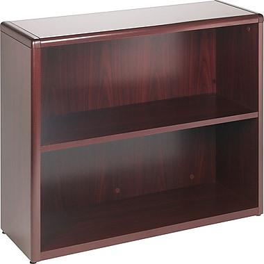 HON® 10700 Series 2-Shelf Bookcase, Mahogany