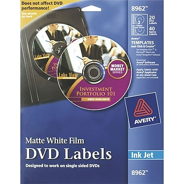 Avery Permanent Inkjet CD Labels