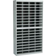 "Safco® EZ STOR Literature Organizer, 72 Compartment, 37 1/2""x 12 3/4""x 71"", Gray"