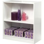 "Staples® Hayden™ White Finish Bookcase, 2-Shelf, 30"""