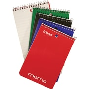 "Mead Memo Books, 4"" x 6"", 80 Pages, 5/Pack"