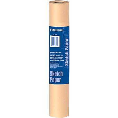 Staedtler® Sketch Paper Rolls, Yellow, 12