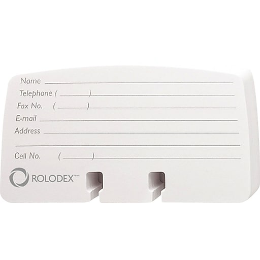 Printing On Index Cards: Rolodex® Cards