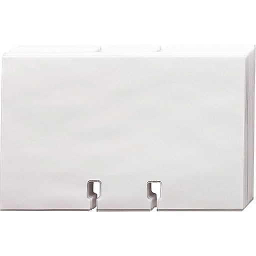Rolodex Blank Cards With Clear Sleeves 2 58 X 4 40pack Staples