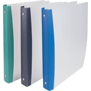 "1"" Staples® Poly Binder with Round Rings, Blue Spine"