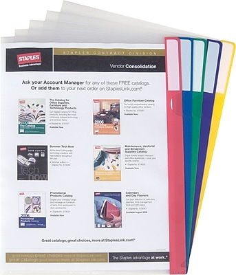 Staples® Poly Index Folders, Letter, Assorted, 10/Pack