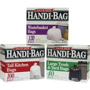 Webster Handi-Bag® Trash Bags Super Value Pack; White, 8 gallon, 130 Bags/Box