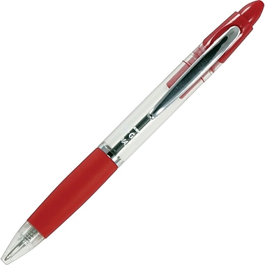 Zebra® Z-Grip MAX Retractable Ballpoint Pens, Medium Point, Red, Dozen
