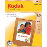 "Kodak Photo Paper, 8 1/2"" x 11"", Matte, 100/Pack"