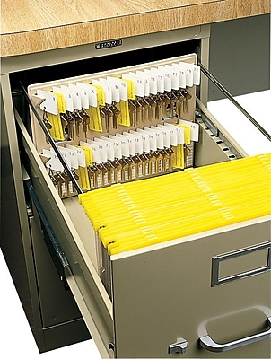 MMF Industries™ File Drawer Key Rack, Sand, 40 Key Capacity, 10