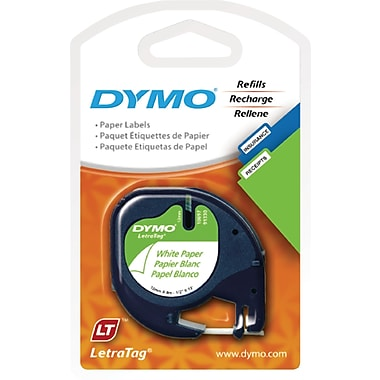 DYMO® LetraTag Label Tape, 12mm (1/2