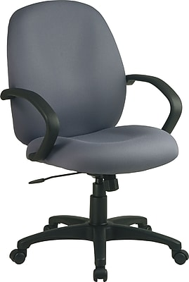 Office Star™ Fabric Conference Office Chair, Gray, Fixed Arm (EX2651-226)